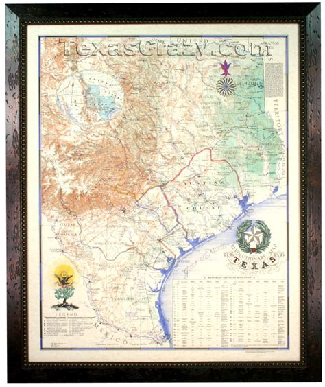texas revolution map 1836 buy texas revolution map 1836 framed republic of texas