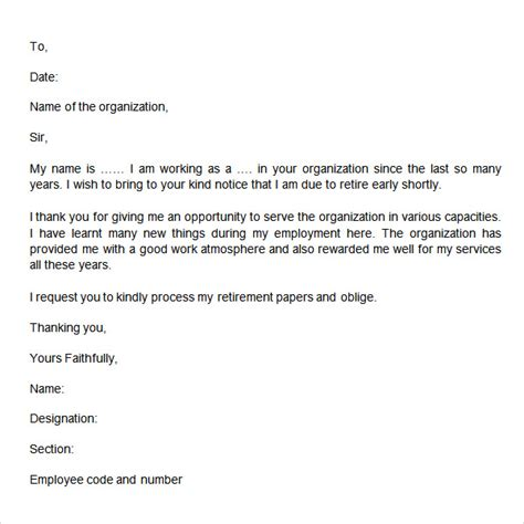 thank you letter to for giving opportunity resignation letter format awesome retirement resignation