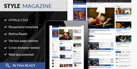 html magazine themes style magazine responsive html5 website template by