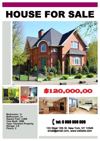 House For Sale Poster Template How To Make A House For Sale Poster Template For Selling A House