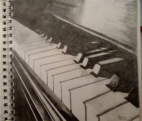 Musician Pencil Set 3 Pensil Musik Piano graphite pencil drawing piano drawing original artwork and poetry