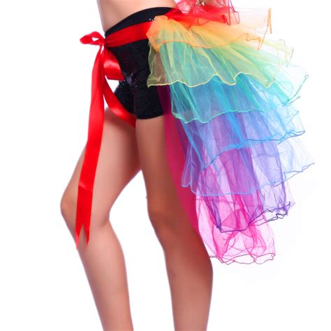Rainbow Skirt 1 rainbow neon rara ballet tutu ruffle tiered