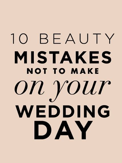 s day mistakes 10 mistakes not to make on your wedding day make