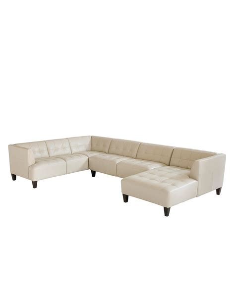 Alessia Leather Sofa Alessia Leather Sectional Sofa 3 139 Quot W X 89 Quot D X 28 Quot H Furniture Macy S For The Home