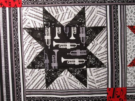 music themed quilting fabric julie s quilts and costumes musical stars baby quilt