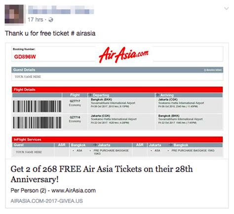 airasia promo tiket don t fall for this airasia free ticket scam
