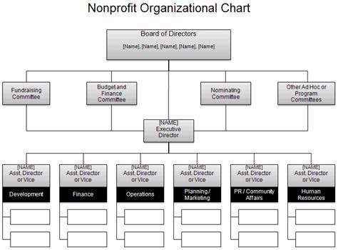 Free Organizational Chart Template Company Organization Free Template For Organizational Chart