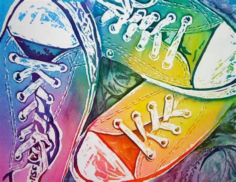 colorful converse watercolor wendy colorful converse