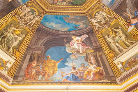 colorful on vatican ceiling dome painting on domed ceiling in vatican stock photography
