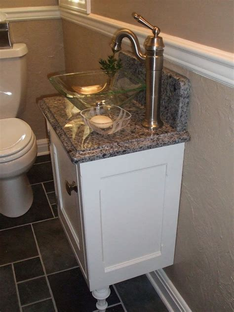 bathroom cabinets for bowl sinks luxurious white small vanity and glass bowl sink on gray