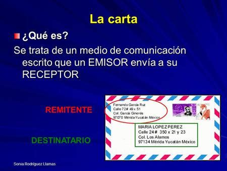 en una carta remitente y destinatario la carta formal ppt video online descargar