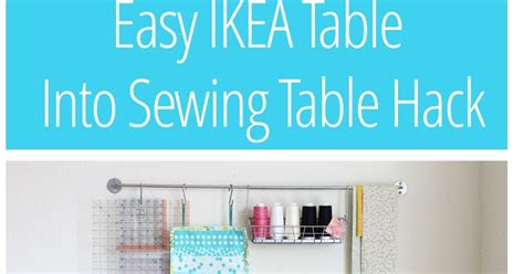 sewing machine table ikea make it handmade easy diy ikea sewing table hack