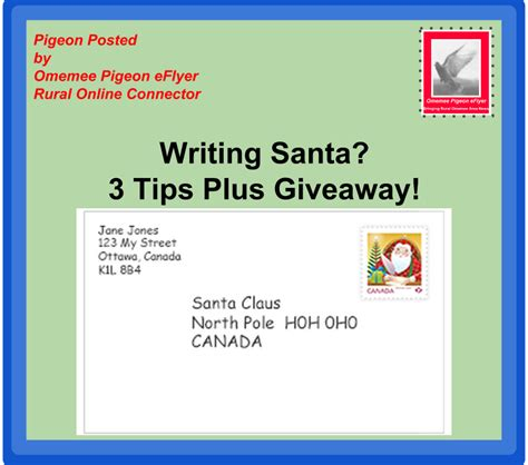 Letter For Giveaways Omemee Pigeon Eflyer Writing Santa Letters 3 Tips Plus A Giveaway