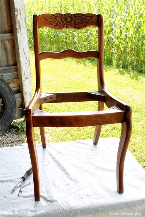 Painting Dining Chairs Dining Chair Makeover How To Paint And Recover Chairs Grows