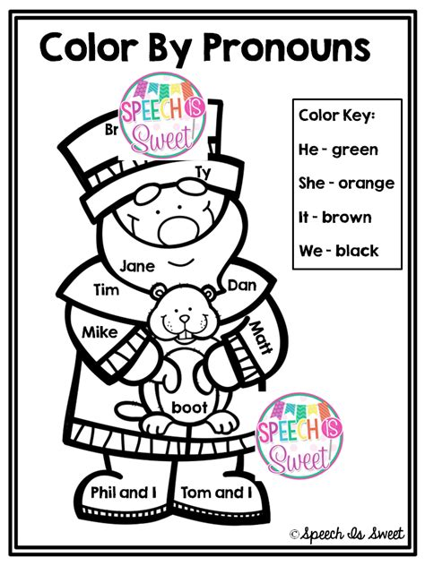 coloring book giveaway speech is sweet color by pronouns groundhog s day freebie