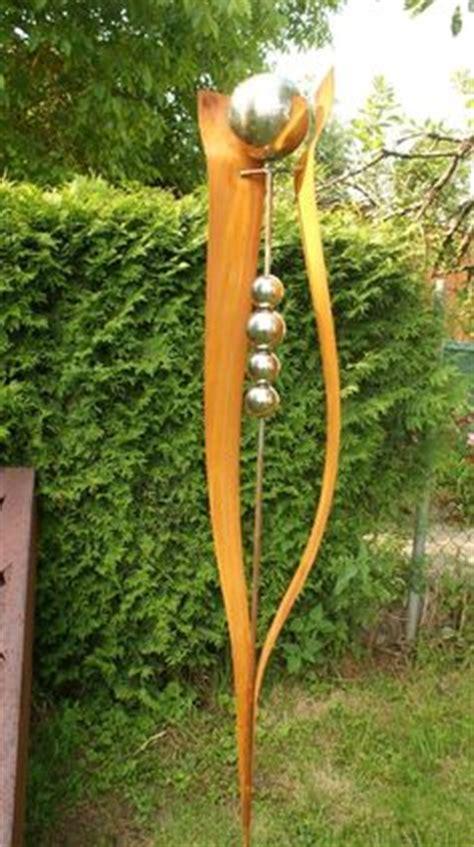 Gartendeko Holz Blatt by Gartendeko Skulptur Edelrost Rost Edelstahl Stele Metall