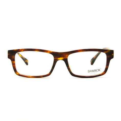 starck eyeglasses pl 1261 1057 brown frame 53 mm