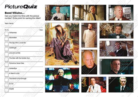 film quiz round quiz number 018 with bond villains picture round