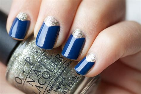blue fingernail beds cute nails to show off your love for blue
