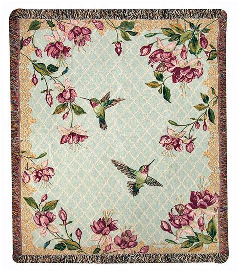 Tapestry Throws by Throws Hummingbird And Fuchsia Tapestry Throw 50 Quot X 60