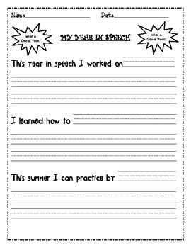 new year activity book pdf freebie end of the year speech therapy reflection sheet