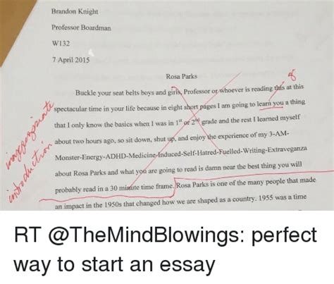 Best Way To Start An Essay About A Person by Way To Start An Essay
