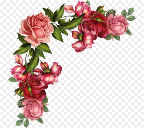 rose flower digital image clip art flower vintage