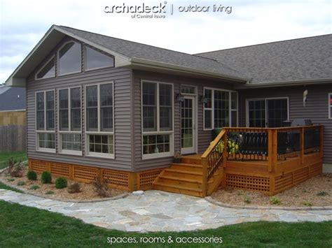 mobile home additions plans 4 season room addition exterior des moines boone