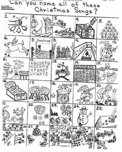 picture christmas song quiz the original puzzle
