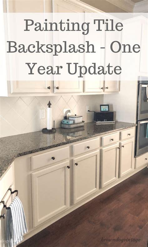 painting kitchen backsplash ideas best 25 painting tile backsplash ideas on