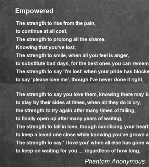the empowered a trevor black novel books empowered poem by phantom anonymous poem