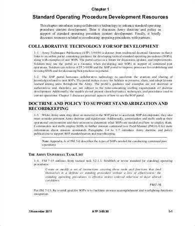 8 Standard Operating Procedure Templates Pdf Doc Free Premium Templates Administrative Standard Operating Procedure Template
