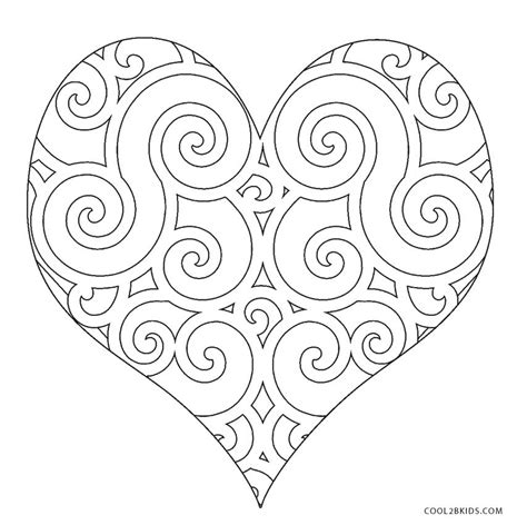 coloring hearts free printable coloring pages for cool2bkids