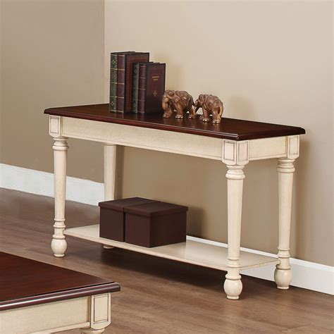 Sofa Tables by Coaster 704419 Sofa Table Brown Antique White