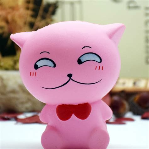 Lovely Pink Cat Squishy lovely squishies donut soft bread squishy cat charm