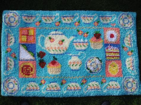 Rug Kits afternoon tea latch hook rug kit