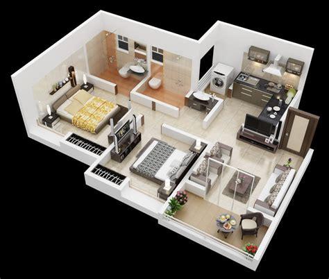 simple but elegant home interior design 25 more 2 bedroom 3d floor plans