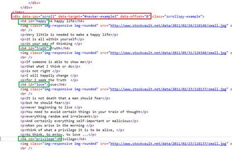 tutorial bootstrap scrollspy the asp net mvc club bootstrap tutorial lesson 14