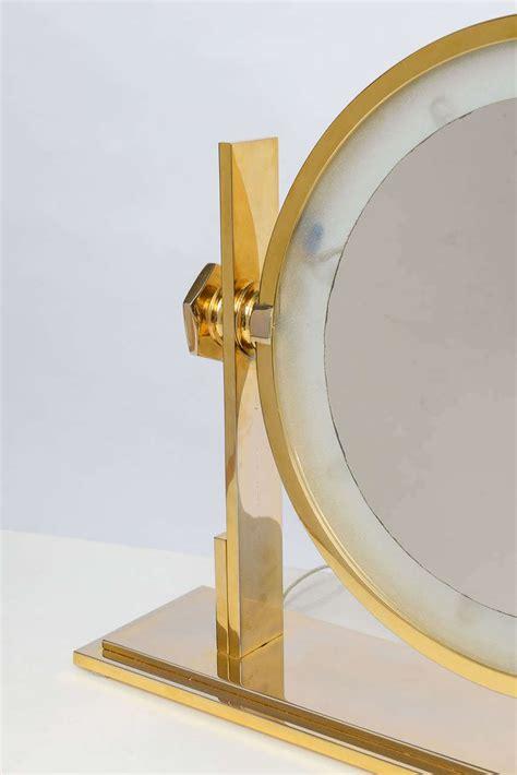 Lighted Vanity Mirror Table Top by Karl Springer Lighted Table Top Vanity Mirror At 1stdibs