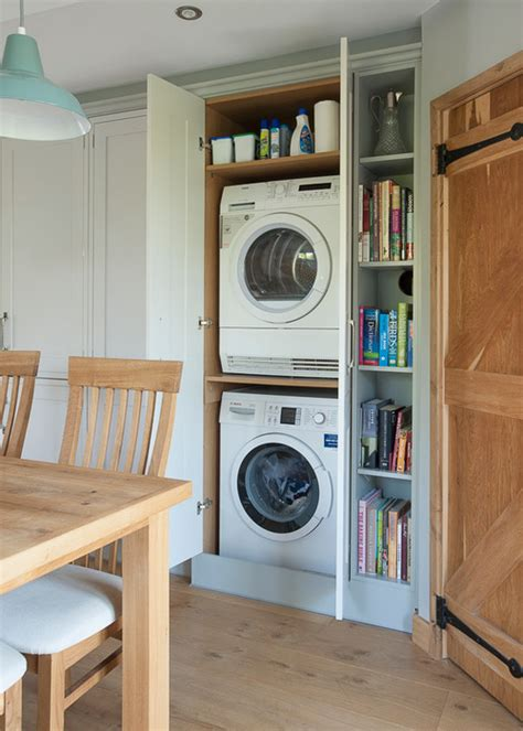 Garage Cabinet Designs clever places to squeeze your washing machine and dryer