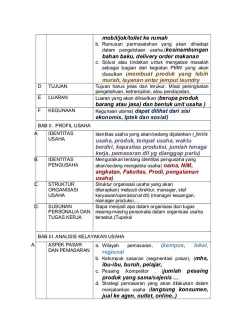 format proposal dikti 2015 format proposal pmw 2015