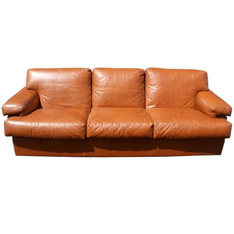 90s couch 90 quot mid century leather three seater sofa couch