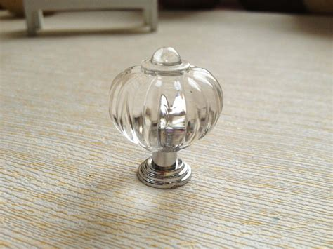 acrylic crystal drawer pulls pumpkin 27mm acrylic crystal knobs furniture cabinet door