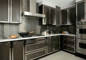 glossy black kitchen cabinets ovens design ideas