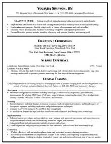 Exles Of Nursing Resume by Resume Sle For Graduate