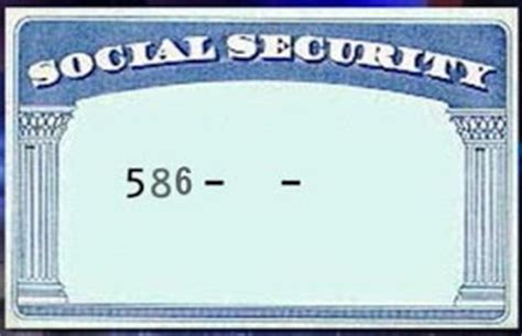 social security number template image collections