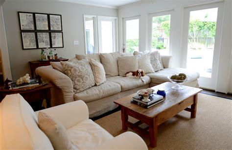 sectional sofa living room slipcovered sectional sofa transitional living room