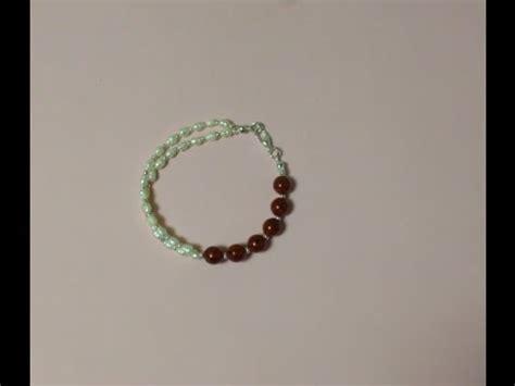 como hacer pulseras con perlas diy como hacer una pulsera con perlas de r 205 o y bolas youtube