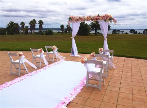 covers decoration hire floral arch header pinks covers