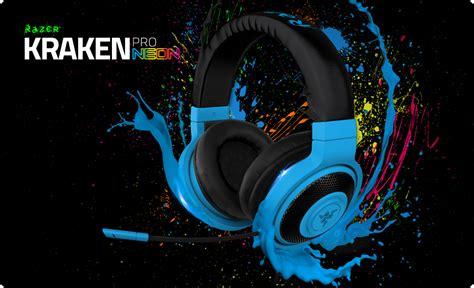 Razer Headset Kraken Neon Series razer turns up the lights with neon kraken series headsets headphones